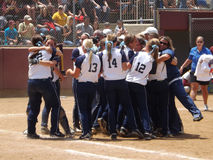 Central Oklahoma Wins the NCAA Division 2 Softball Chanpionship Royalty Free Stock Images