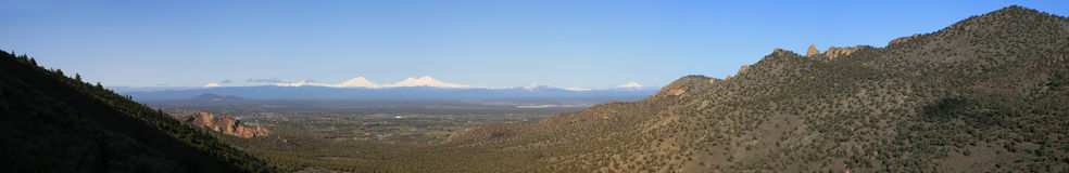 Central Oregon Cascade panorama Royalty Free Stock Images