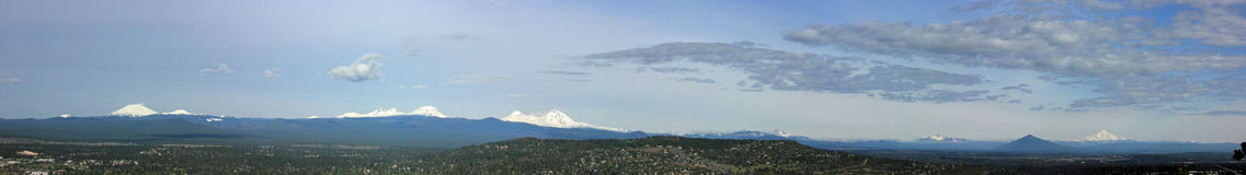 Central Oregon Cascades from Pilot  Butte Stock Image