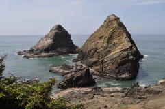Central Oregon Coast. Rock islands near Heceta Head, Oregon Stock Photo