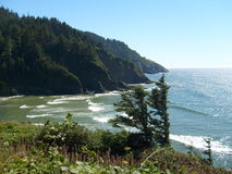 Central Oregon Coast. A beautiful view of the Oregon coast looking south from Heceta Head stock image