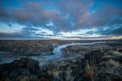 Central Oregon för Oregon ökensoluppgång Arkivfoton