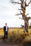 Central Oregon Groom Wedding Portrait Royalty Free Stock Images