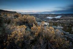 Central Oregon soluppgång Mt Jefferson Arkivbild