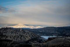 Central Oregon soluppgång Mt Jefferson Arkivfoton