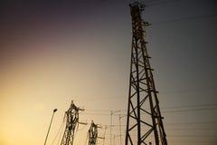 Central para a distribuição elétrica fotografia de stock