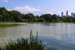 Central Park湖在曼哈顿,纽约-美国 免版税库存照片