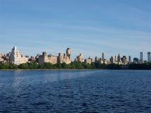 Central park湖,曼哈顿纽约 免版税库存图片