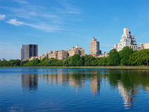 Central park湖,曼哈顿纽约 免版税库存照片