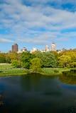 Central Park湖,纽约城,美利坚合众国 免版税图库摄影