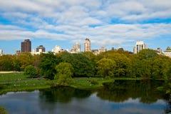 Central Park湖,纽约,美利坚合众国 免版税图库摄影