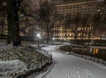 Central Park, νύχτα πόλεων της Νέας Υόρκης Στοκ Φωτογραφίες