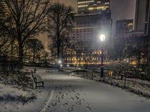 Central Park, νύχτα πόλεων της Νέας Υόρκης Στοκ φωτογραφίες με δικαίωμα ελεύθερης χρήσης