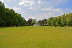 Central Park в городе Podebrady, чехии Стоковые Фото