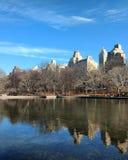 Central Park湖 库存照片