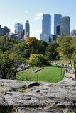 Central Park. View of city from Central Park royalty free stock photography