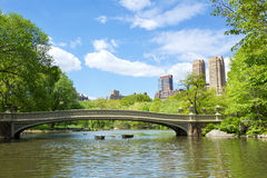 Central Park. Bow Bridge at Central Park, New York Royalty Free Stock Photos