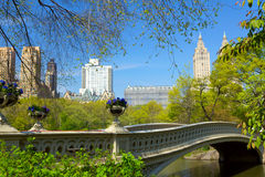 Central Park. Bow Bridge at Central Park in New York City Stock Images