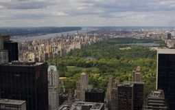 Central Park Aerial View stock photo