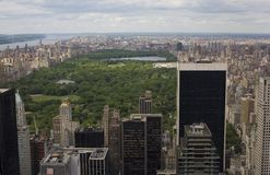 Central Park Aerial View Royalty Free Stock Photos