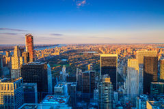 Central Park aerial view, Manhattan Royalty Free Stock Photography