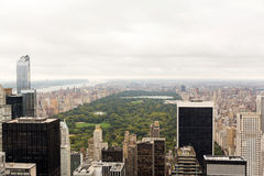 Central park aerial view royalty free stock photography