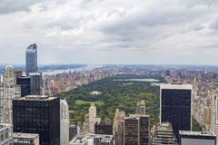 Central Park aerial view in Manhattan, New York City, USA Stock Photography