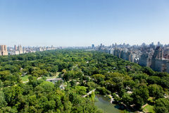 Central Park Aerial View Stock Images