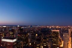 Central Park alla notte Fotografia Stock