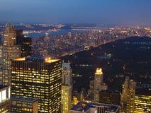 Central Park alla notte immagine stock libera da diritti