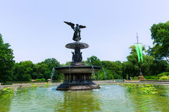 Central Park Angel of Waters fountain New York Stock Images