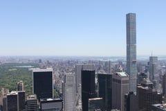 Central Park-Ansicht von der Spitze des stein- New York Stockbilder