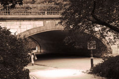 Central park arch. This picture was taken in Central Park - NYC Royalty Free Stock Photography