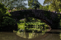Central Park Arch. Cliche view of a bridge in Central Park of NYC Royalty Free Stock Image