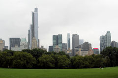 Central Park in an autumn cloudy day Stock Photos