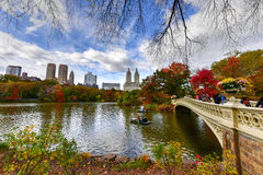 Central Park in Autumn in New York City Royalty Free Stock Photos