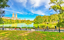 Central Park in autumn in New York City Stock Photography