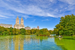 Central Park in autumn in New York City Stock Photos