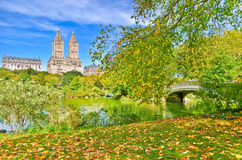 Central Park in autumn in New York Stock Image