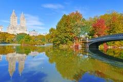 Central Park in autunno, New York Immagini Stock Libere da Diritti