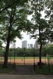 Central park baseball field Stock Photos