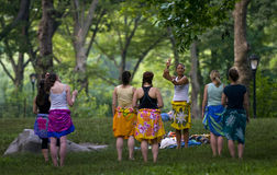 Central park belly dance Royalty Free Stock Image