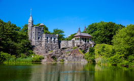 Central Park belwederu kasztel Obraz Royalty Free