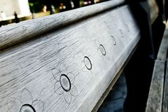 Central Park Bench Stock Image