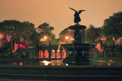 Фонтан Central Park Bethesda ny Стоковое Изображение RF