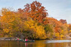 Central Park Boating Stock Images