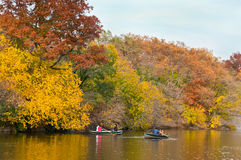 Central Park Boating Royalty Free Stock Photos