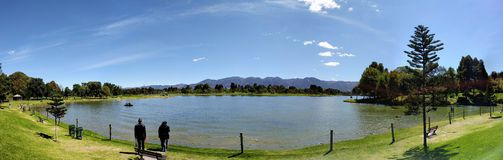 Central Park of Bogota, Colombia. Lake feature in the middle of the largest park in Bogota Royalty Free Stock Photos