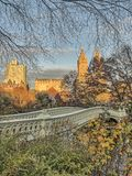 Central Park, Boogbrug Royalty-vrije Stock Foto