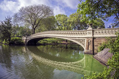 Central Park bow bridge Royalty Free Stock Image